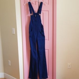Wide leg overall